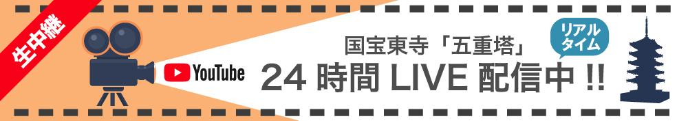 東寺-国宝「五重塔」24時間 LIVE 配信中