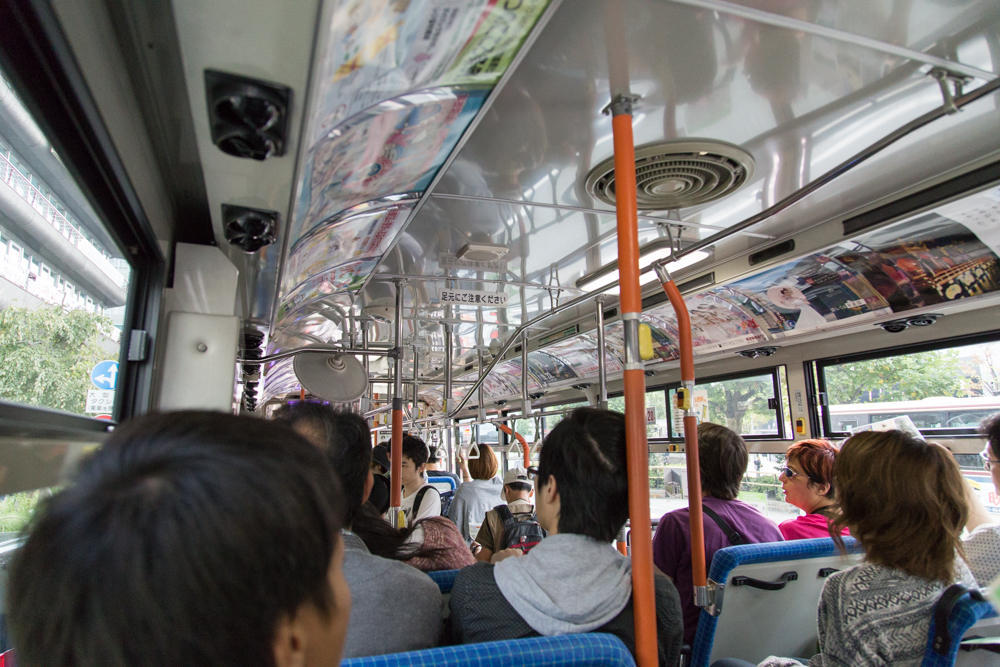 混雑した市バス