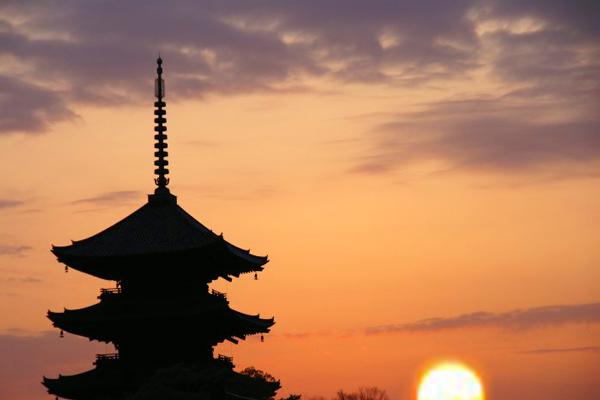 東寺 日の出